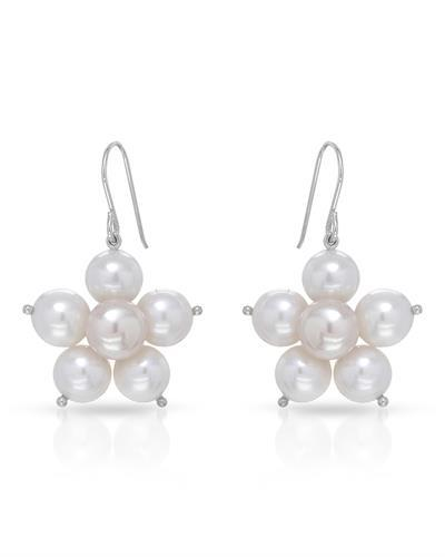 Brand New Earring with 0ctw pearl 925 Silver sterling silver