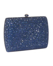Load image into Gallery viewer, Dolli Sage Brand New Clutch with 0ctw crystal  Metallic base metal