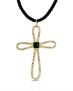 Millana Brand New Necklace  Green Enamel and 14K Yellow gold