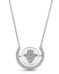 Brand New Necklace with 0.15ctw diamond 14K White gold