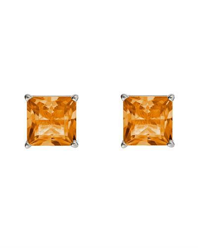 Brand New Earring with 2.2ctw citrine 925 Silver sterling silver