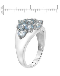 Brand New Ring with 2.88ctw topaz 925 Silver sterling silver
