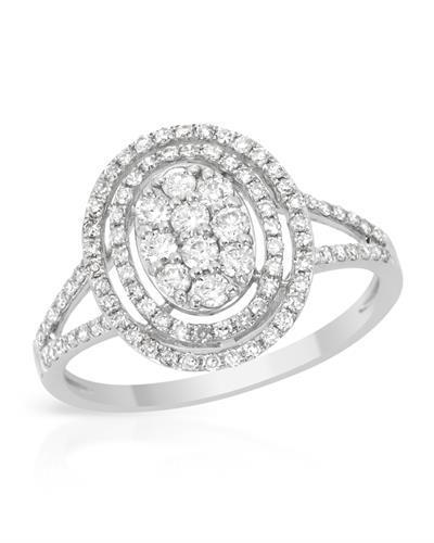 Brand New Ring with 0.63ctw diamond 14K White gold