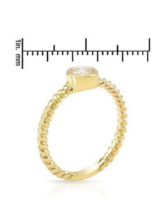 Brand New Ring with 0.33ctw diamond 14K Yellow gold