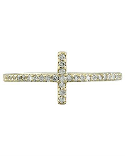 0.35 Carat 14K Yellow Gold Diamond Ring