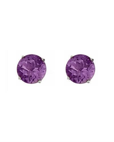 Brand New Earring with 0.92ctw amethyst 14K White gold