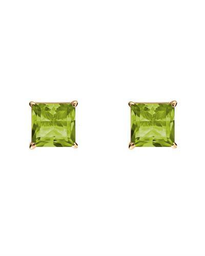 Brand New Earring with 1.5ctw peridot 14K Yellow gold