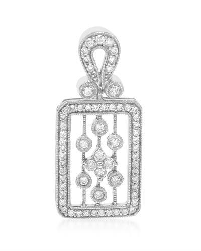 Brand New Pendant with 0.43ctw diamond 18K White gold