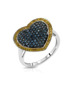 Lundstrom Brand New Ring with 0.63ctw of Precious Stones - diamond and diamond 10K White gold