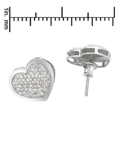 Lundstrom Brand New Earring with 0.6ctw diamond 14K White gold