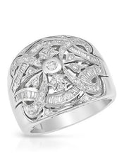 Load image into Gallery viewer, Brand New Ring with 0.83ctw diamond 14K White gold