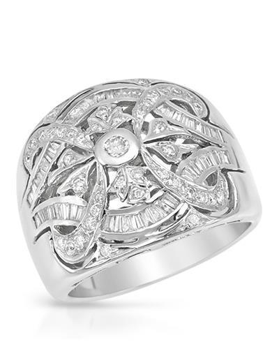 Brand New Ring with 0.83ctw diamond 14K White gold