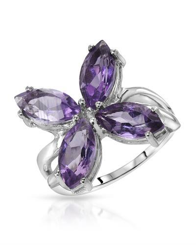 Brand New Ring with 4ctw amethyst 925 Silver sterling silver