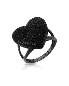 Lundstrom Brand New Ring with 1.04ctw diamond 10K Black gold