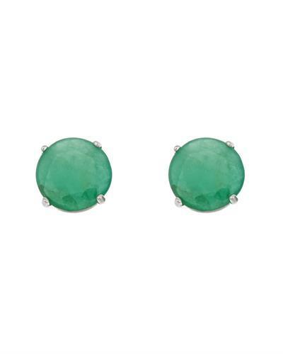 Brand New Earring with 0.96ctw emerald 14K White gold