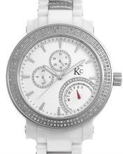 Load image into Gallery viewer, Techno Com by KC Brand New Japan Quartz day date Watch with 4ctw of Precious Stones - crystal and diamond