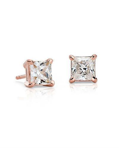Whitehall LOVERS Brand New Earring with 1ctw lab-grown diamond 14K Rose gold