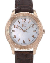 Load image into Gallery viewer, KC Brand New Japan Quartz Watch with 0.07ctw of Precious Stones - diamond and mother of pearl