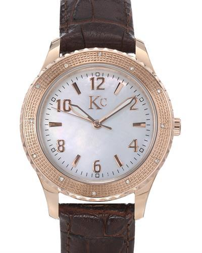 KC Brand New Japan Quartz Watch with 0.07ctw of Precious Stones - diamond and mother of pearl
