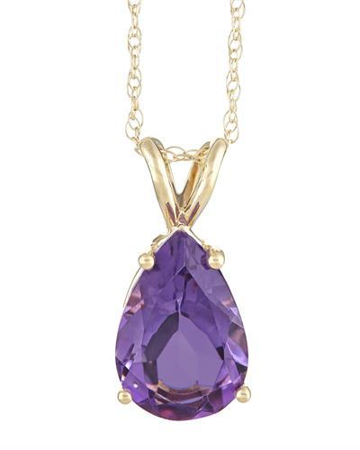 Brand New Necklace with 2.8ctw amethyst 14K Yellow gold