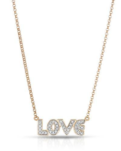 Brand New Necklace with 0.12ctw diamond 14K Rose gold