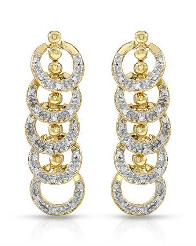 Brand New Earring with 0.45ctw diamond 10K Yellow gold