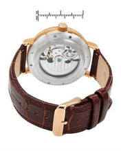 Load image into Gallery viewer, Adee Kaye ak7118-MRG/WH Brand New Automatic moon dial Watch