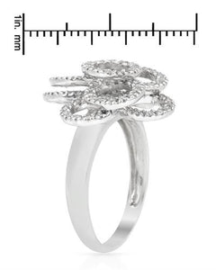 Brand New Ring with 0.72ctw diamond 14K White gold