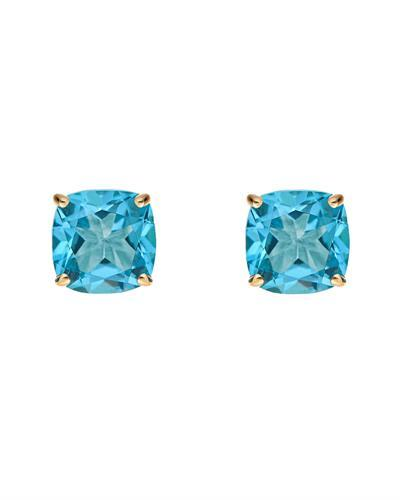 Brand New Earring with 3.6ctw topaz 14K Yellow gold