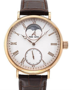 Adee Kaye ak7118-MRG/WH Brand New Automatic moon dial Watch
