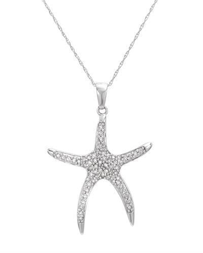 Brand New Necklace with 0.25ctw diamond 10K White gold