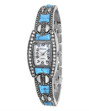 Load image into Gallery viewer, Varsales V4709 Brand New Japan Quartz Watch with 0ctw of Precious Stones - crystal and mother of pearl