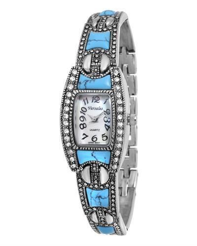 Varsales V4709 Brand New Japan Quartz Watch with 0ctw of Precious Stones - crystal and mother of pearl