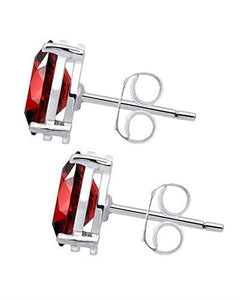 Brand New Earring with 1.9ctw garnet 925 Silver sterling silver
