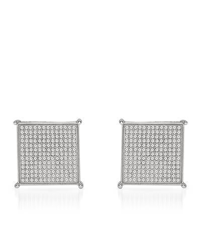Lundstrom Brand New Earring with 1ctw diamond 10K White gold