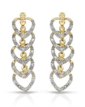 Load image into Gallery viewer, Brand New Earring with 0.32ctw diamond 10K Yellow gold