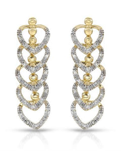 Brand New Earring with 0.32ctw diamond 10K Yellow gold