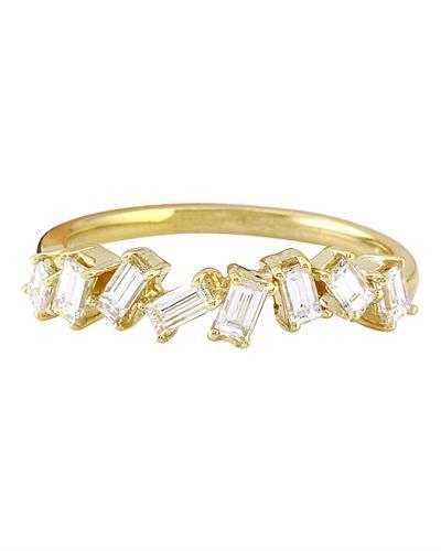 0.75 Carat Natural Diamond 14K Solid Yellow Gold Ring