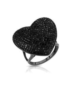 Lundstrom Brand New Ring with 1.76ctw diamond 10K Black gold