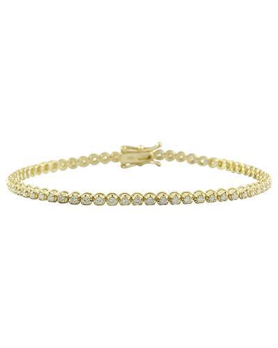 1.40 Carat Diamond 18K Yellow Gold Bracelet