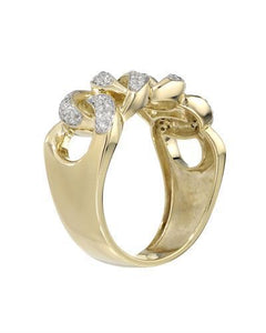 Brand New Ring with 0.37ctw diamond 10K Yellow gold