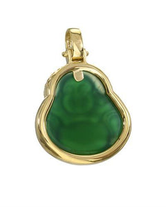 Brand New Pendant with 0.6ctw of Precious Stones - agate and diamond 10K Yellow gold