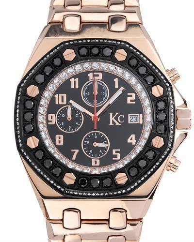 KC Brand New Japan Quartz date Watch with 0ctw crystal
