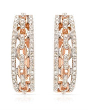 Load image into Gallery viewer, Brand New Earring with 0.32ctw diamond 14K Rose gold