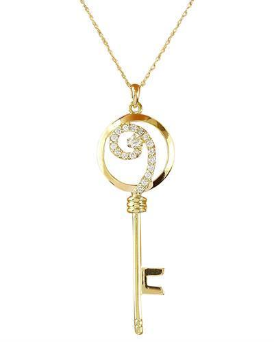 0.35 Carat Natural Diamond 14K Solid Yellow Gold Pendant Necklace