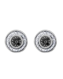 Brand New Earring with 0.1ctw diamond 10K White gold