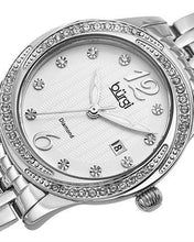 Load image into Gallery viewer, burgi BUR102SS Brand New Quartz date Watch with 0.05ctw of Precious Stones - crystal and diamond