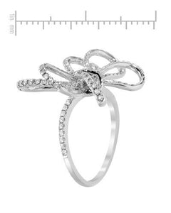 Lundstrom Brand New Ring with 1.15ctw diamond 14K White gold