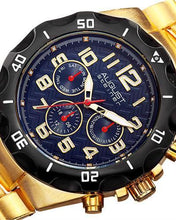 Load image into Gallery viewer, AUGUST Steiner AS8161YGBU Brand New Swiss Quartz day date Watch
