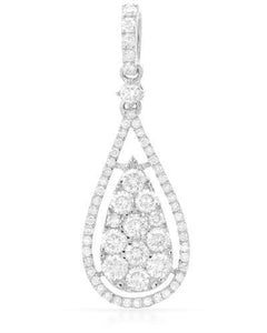 Brand New Pendant with 0.99ctw diamond 14K White gold